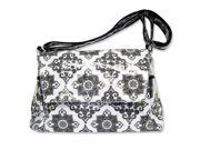 Trend Lab Versailles Messenger Style Diaper Bag - Black and White