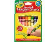 Crayola My First Washable Triangular Crayons - 16 count