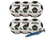 Franklin Sports 6 - Pack Competition Size Soccer Ball With Pump - Size 5