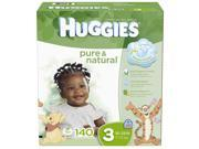 Huggies Pure & Natural Size 3 Value Box - 140 Count