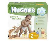 Huggies Pure & Natural Size 2 Value Box - 152 Count