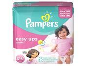 Pampers Girls Easy Ups Training Pants Jumbo Pack - Size 3T/4T - 23 Count