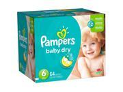 Pampers Baby Dry Size 6 Diapers Super Pack - 64 Count