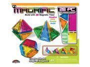 Magrific Magnetic Tiles Building Set - 28 Piece Generic Color