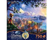 Thomas Kinkade Disney The Dreams Collection Jigsaw Puzzle - 750- - Pinocchio