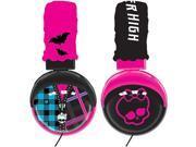 Monster High Foldable Plush Headphones