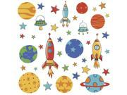 Planets and Rockets Peel and Stick Wall Decals