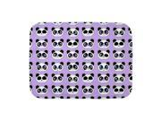 CafePress Neutral Cute Purple Panda Baby Blanket