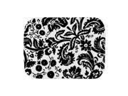 CafePress Girl Black Damask Burp Cloth