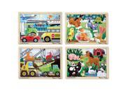 Melissa & Doug 12-Piece Jigsaw Puzzl - Vehicles, Pets, Contruction, and Farm