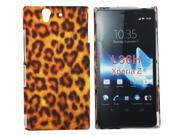Kit Me Out US Hard Clip-on Case + Screen Protector with MicroFibre Cleaning Cloth for Sony Xperia Z - Brown Leopard