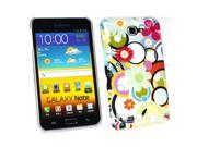 Kit Me Out USA Plastic Clip-on Case for Samsung Galaxy Note i9220 N7000 - Circles And Flowers