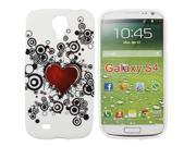 Kit Me Out US IMD TPU Gel Case + Screen Protector with MicroFibre Cleaning Cloth for Samsung Galaxy S4 i9500 - Tattoo Heart