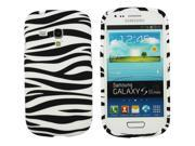Kit Me Out US IMD TPU Gel Case for Samsung Galaxy S3 Mini i8190 (NOT FOR S3) - Black/White Zebra