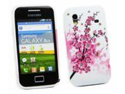 Kit Me Out USA TPU Gel Case for Samsung Galaxy Ace S5830 - Blossom Pink
