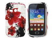 Kit Me Out US TPU Gel Case + Screen Protector with MicroFibre Cleaning Cloth for Samsung Galaxy Mini 2 S6500 - Multicoloured Oriental Flowers
