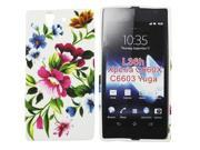 Kit Me Out US TPU Gel Case + Screen Protector with MicroFibre Cleaning Cloth for Sony Xperia Z - Multicoloured Vintage Flowers