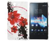 Kit Me Out US Hard Clip-on Case + Screen Protector with MicroFibre Cleaning Cloth for Sony Xperia Z - Oriental Flowers