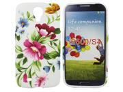 Kit Me Out US IMD TPU Gel Case + Screen Protector with MicroFibre Cleaning Cloth for Samsung Galaxy S4 i9500 - Multicoloured Vintage Flowers