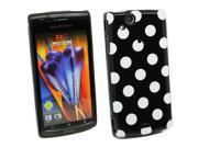 Kit Me Out US IMD TPU Gel Case for Sony Ericsson Xperia Arc / Arc S X12 - Black, White Polka Dots