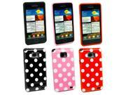 Kit Me Out USA TPU Gel Case Pack for Samsung Galaxy S2 II i9100 - Black/White, Red, Pink Polka Dots