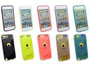 Kit Me Out USA TPU Gel Case Pack for Apple iPod Touch 5 (5th Generation) - Black, Hot Pink, Purple, Blue, Clear Wave Pattern