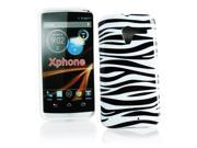Kit Me Out US IMD TPU Gel Case + Screen Protector with MicroFibre Cleaning Cloth for Motorola Moto X ( 2013 ) - Black / White Zebra