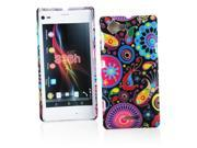Kit Me Out US Hard Clip-on Case + Screen Protector with MicroFibre Cleaning Cloth for Sony Xperia L - Multicoloured / Black Retro Mayhem