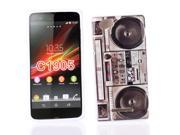 Kit Me Out US IMD TPU Gel Case + Screen Protector with MicroFibre Cleaning Cloth for Sony Xperia M - Multicoloured Stereo