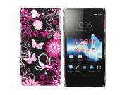 Kit Me Out US Hard Clip-on Case + Screen Protector with MicroFibre Cleaning Cloth for Sony Xperia Z - Pink Garden