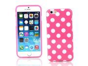 """Kit Me Out US IMD TPU Gel Case + Screen Protector with MicroFibre Cleaning Cloth for Apple iPhone 6 4.7"""" Inch - Pink / White Polka Dots"""