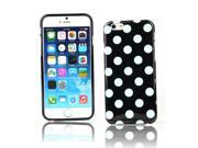 "Kit Me Out US IMD TPU Gel Case + Screen Protector with MicroFibre Cleaning Cloth for Apple iPhone 6 4.7"" Inch - Black / White Polka Dots"