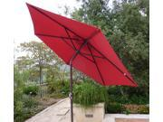 7.5ft aluminum market umbrella crank & tilt color in RED