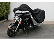 """Heavy Duty Motorcycle cover (XXL). Includes cable & lock. Fits up to 108"""" length Large cruiser, Tourer, Chopper."""