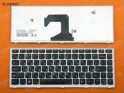 RU Keyboard for LENOVO U410 SILVER FRAME BLACK