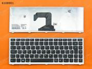 UK Keyboard for LENOVO U410 SILVER FRAME BLACK
