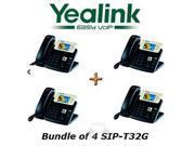 Yealink SIP-T32G - Bundle of 4 Gigabit Color IP Phone SIP-T32G