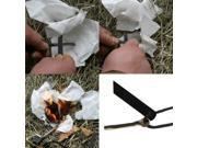 Black New Outdoor Survival Flint Steel Magnesium Rod Fire Striker Starter Kit Emergency Tool