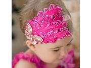 Cute Baby Photos With Children Headdress Flower Feathered Headdress Flower Hair