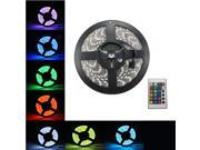 New 5M 5050 RGB SMD Waterproof Flexible led Strip 300 LEDs + 24 Key IR Remote