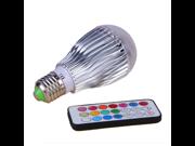 Colorful LED RGB 9W E27 Flash Light Bulb Lamp with IR Remote Control