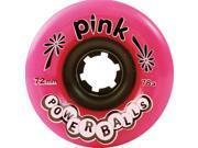 PINK POWERBALLS 72mm 78a PINK Skateboard Wheels