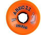 ABEC11 ZIGZAGS 70mm 89a ORANGE PLUS Skateboard Wheels