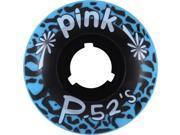 PINK P-52'S 52mm 99a BLUE Skateboard Wheels