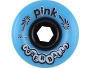 PINK POWERBALLS 72mm 81a BLUE Skateboard Wheels