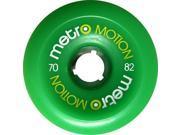 METRO MOTION 70mm 82a GREEN Skateboard Wheels