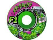 SPITFIRE KENNEDY F1SB TRUNK SKUNK 52mm GRN SWIRL Skateboard Wheels
