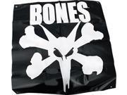 BONES RAT BANNER 35x36 BLK/WHT