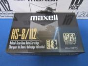 MAXELL 8MM 112M 2.3-5GB HS-8/112 HELICAL-SCAN 8MM DATA CARTRIDGE - ITEM# 186710 - BOX 0F 10