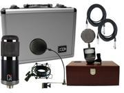MXL CR89 Studio Mic w/Case and Shock Mount w/ Pop Filter and Trophy Mic and (2) 20' XLR Cables